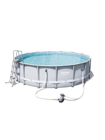 Okrúhly bazén 16FT 488x122 cm POWER Steel 6v1 BESTWAY
