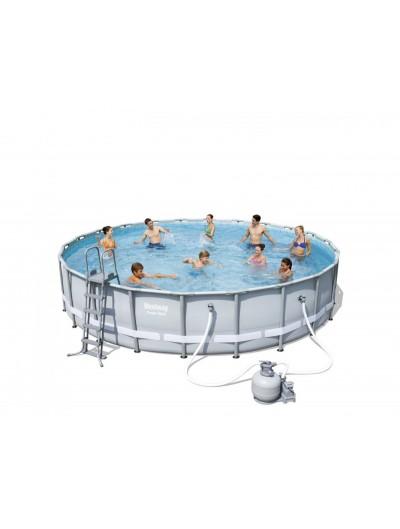 Okrúhly bazén 22FT 671x132cm POWER Steel BESTWAY