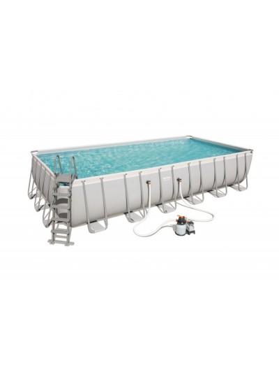 Nadzemný záhradný bazén 24FT 732x366x132 cm POWER Steel 6v1 BESTWAY