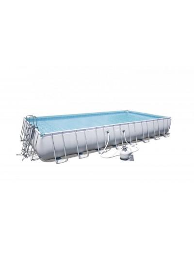 Nadzemný záhradný bazén 31FT 956x488x132cm POWER Steel Piesková Pumpa BESTWAY