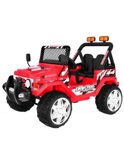 Elektrické autíčko JEEP RAPTOR EVA kolesá - Červené