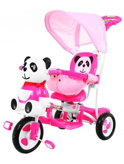 Trojkolka Panda - Ružová