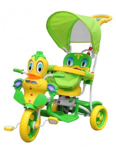 Trojkolka 3v1 Kačka - Zelená