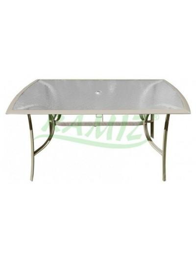 Hliníkový záhradný stôl 150/90 Taupe rám