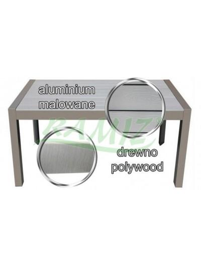 Záhradný hliníkový  stôl z dreveného rámu Taupe