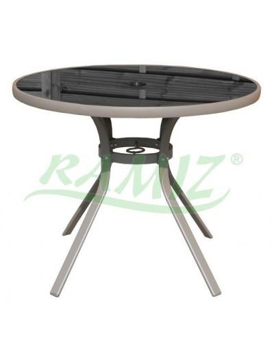 Záhradný stôl okrúhly 90 cm rám Taupe