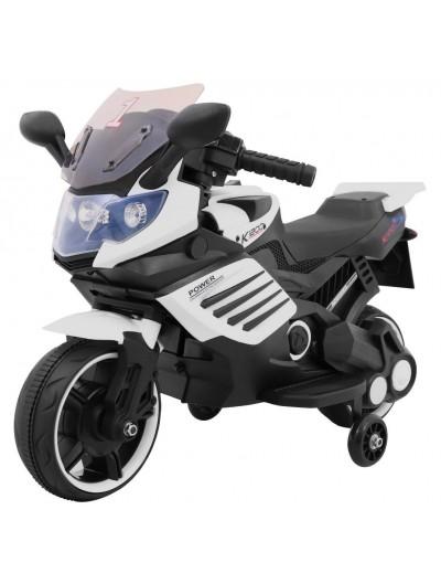 Elektrická motorka R2 - Čierno-biela