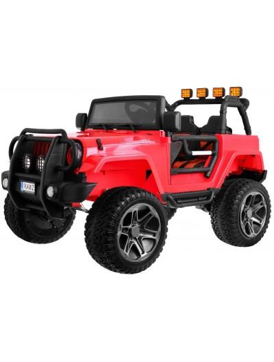Elektrické autičko Jeep Monster 4x4 Dvojmiestne - Červené