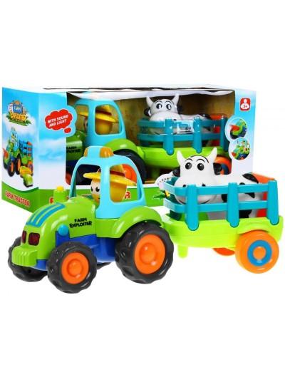 Traktor s ťahačom Fudge a farmárom