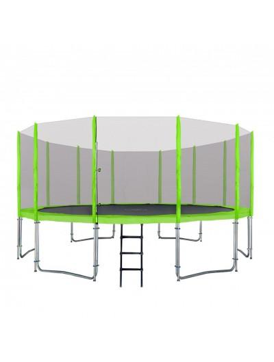 Záhradná Trampolína 487cm - Zelená  + ochranná sieť + rebrík
