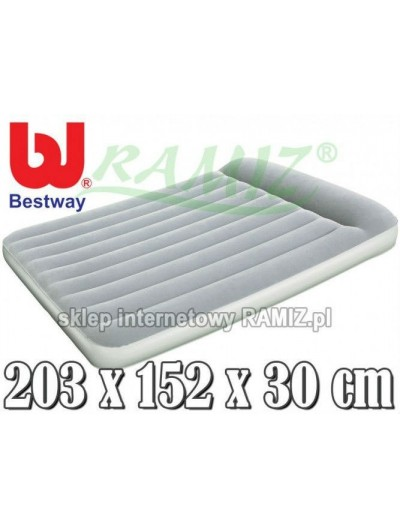 Zamatový matrac s pumpičkou AEROLAX 203/152/30 cm BESTWAY