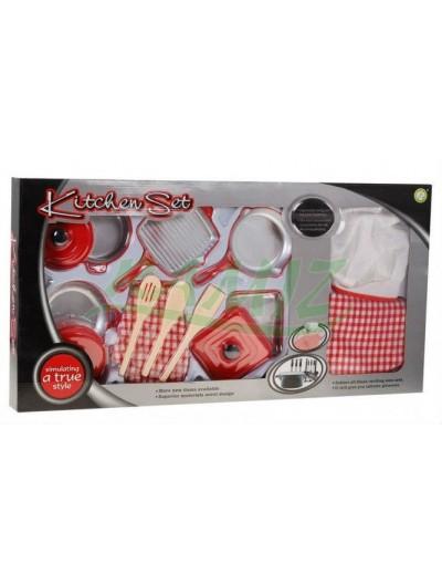 Kuchynská zostava-14 kusov+ rukavice, zástera