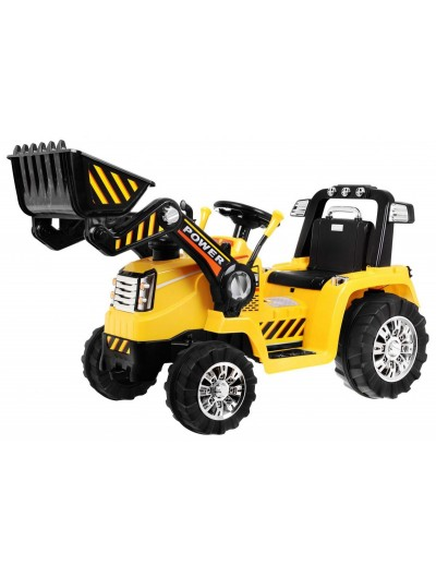 Traktor/bager na akumulátor žltý