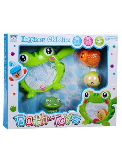 Žabka sitko do kúpeľa+ hračky