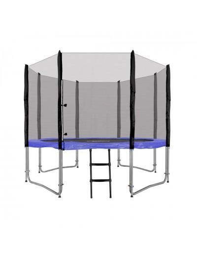 Záhradná Trampolína 305cm 10FT - Modrá + ochranná sieť + rebrík