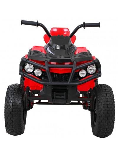Elektrická štvorkolka Quad ATV Air s nafukovacími kolesami - Červená