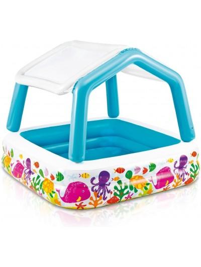 Nafukovací detský bazén 157 cm x 157 cm INTEX