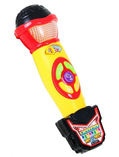 Mikrofón s nahrávaním hlasu - Žltý