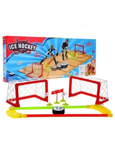 Set na hokej ice hockey + hokejky a bránky