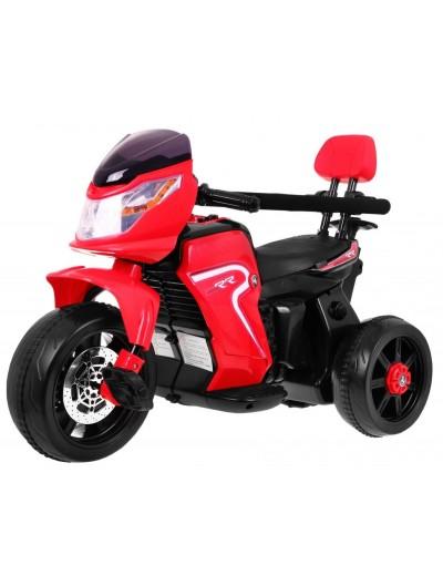 Elektrická motorka RR, bicykel + vodiacou tyč, 3v1 - Červená