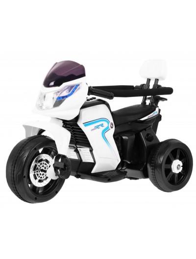 Elektrická motorka RR, bicykel + vodiacou tyč, 3v1 - Biela