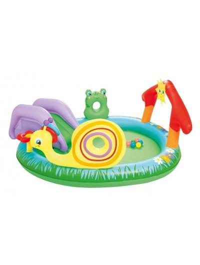 Nafukovací detský bazén so šmýkalkou a loptičkami 211/155/81cm BESTWAY