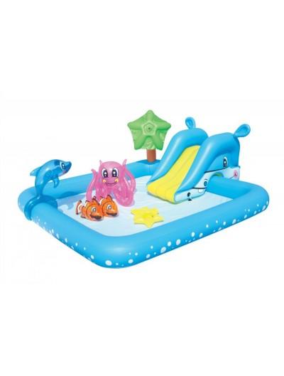 Nafukovací detský bazén AKVARIUM + príslušenstvá  239/206/86cm BESTWAY