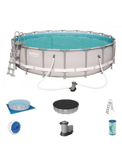 Okrúhly bazén  18FT 549x132 cm POWER Steel universal 6v1 BESTWAY