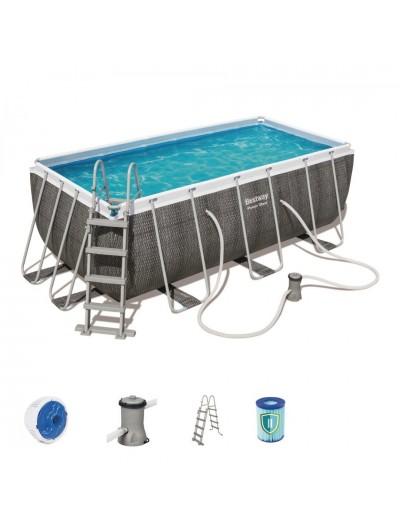 Nadzemný záhradný bazén 412 cm x 201 cm x 122 cm POWER STEEL BESTWAY