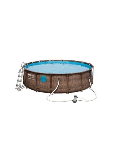 Okrúhly bazén s kovovou konštrukciou Power Steel Swim Vista 7v1  488 cm x 122 cm