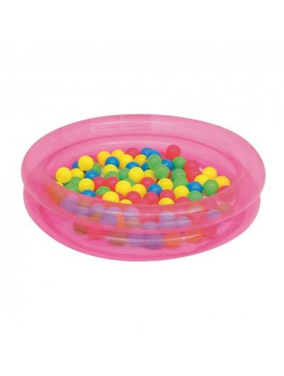 Detský bazén s loptičkami - Ružový BESTWAY