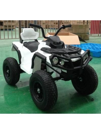 Elektrická štvorkolka Quad ATV Air s nafukovacími kolesami - Biela